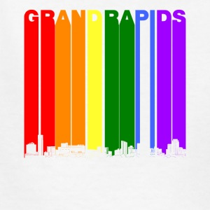 Grand Rapids Skyline Rainbow LGBT Gay Pride - Kids' T-Shirt