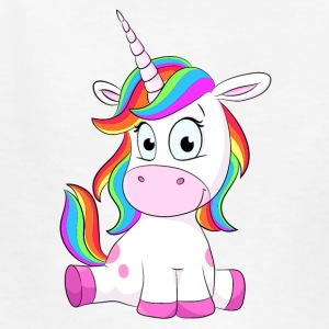 Cute Unicorn sitting - Kids' T-Shirt