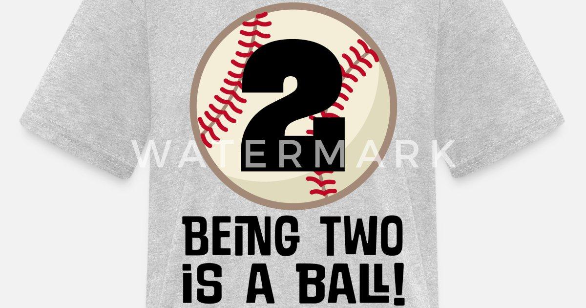 Kids T Shirt2nd Birthday Boys Baseball