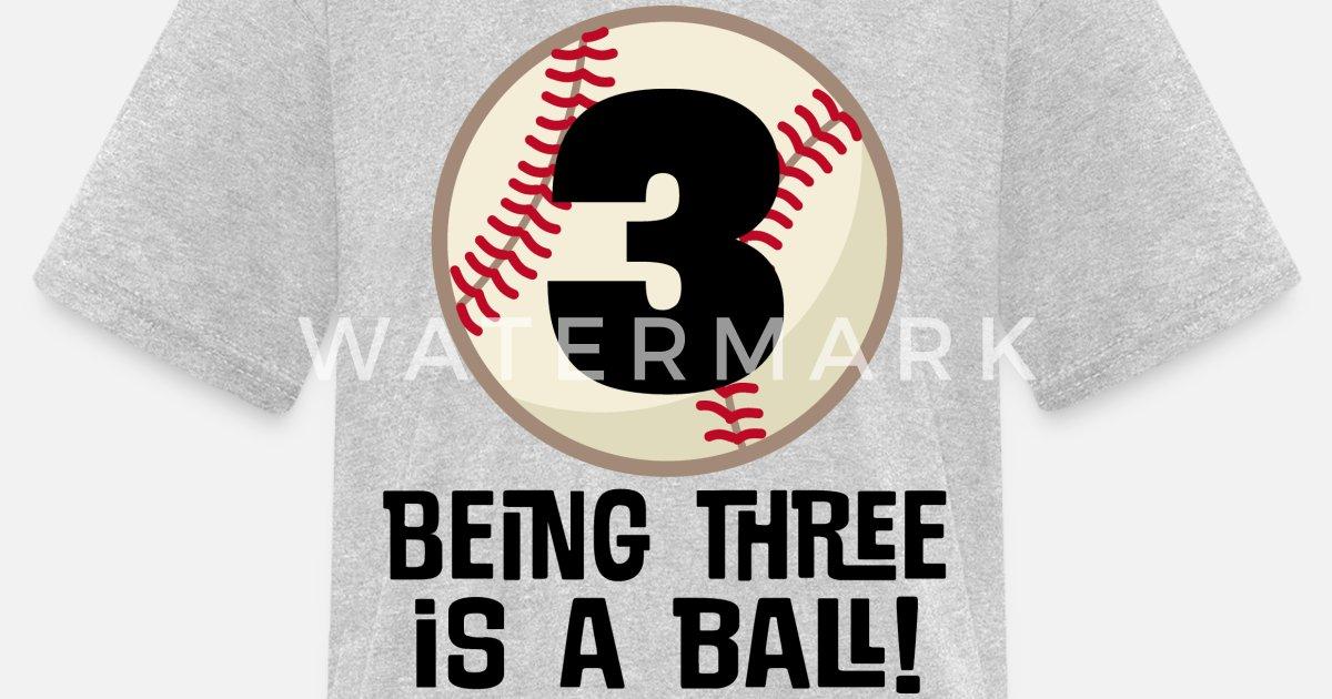 Kids T Shirt3rd Birthday Boys Baseball 3 Years
