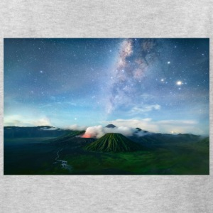 Volcano with the pretty Galaxy - Kids' T-Shirt