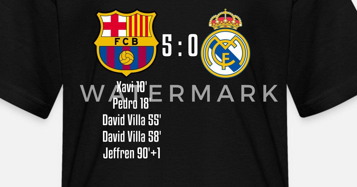 97d3db88e0e FC Barcelona 5-0 Real Madrid Kids  T-Shirt