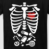 Scary Halloween X-Ray costume candy  - Kids' T-Shirt