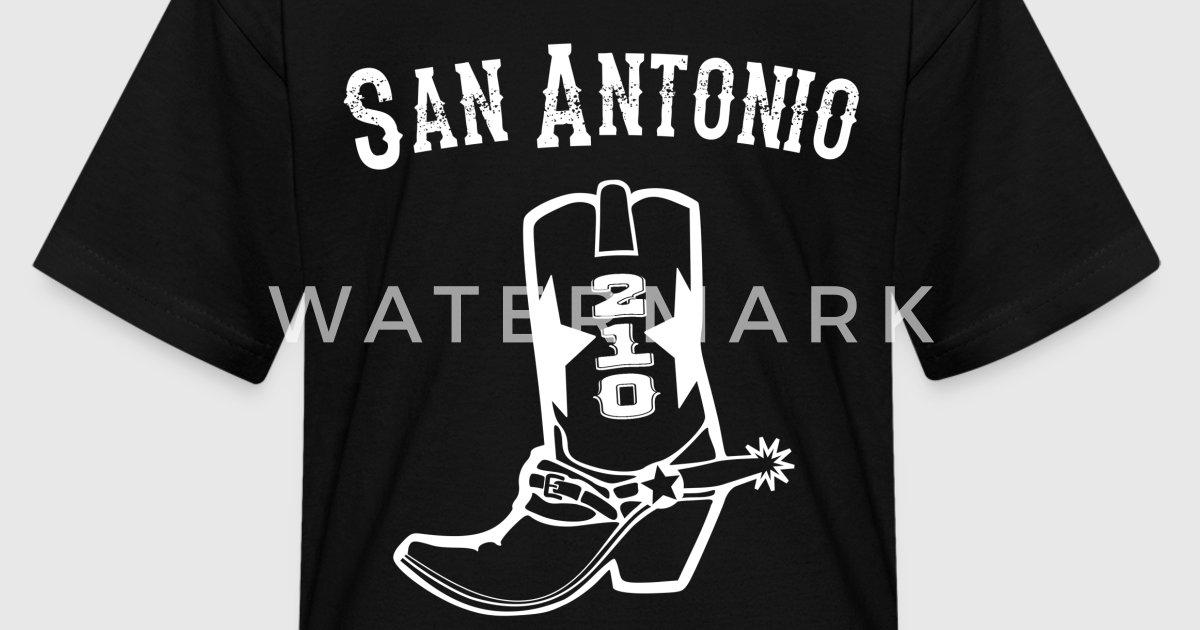 San antonio spurs kids t shirt by smart apparel spreadshirt for Custom t shirts san antonio tx