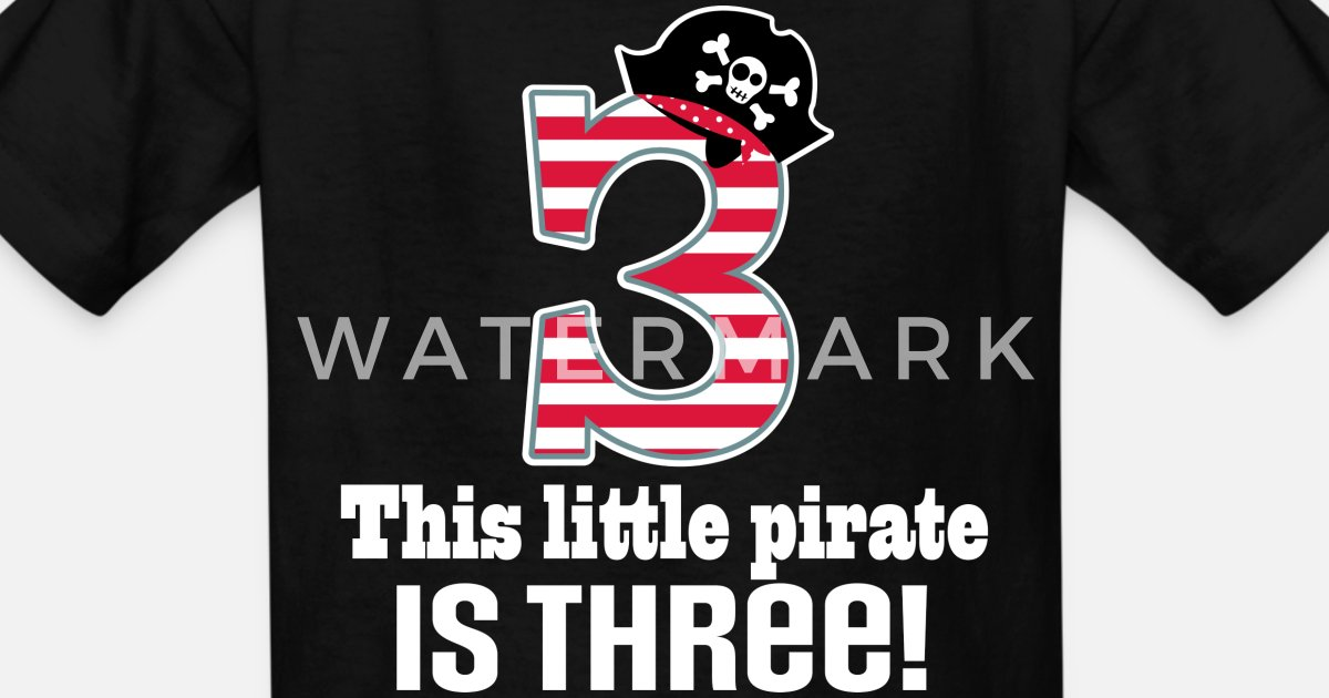 af0217c20 3rd Birthday Pirate Boys Kids' T-Shirt | Spreadshirt