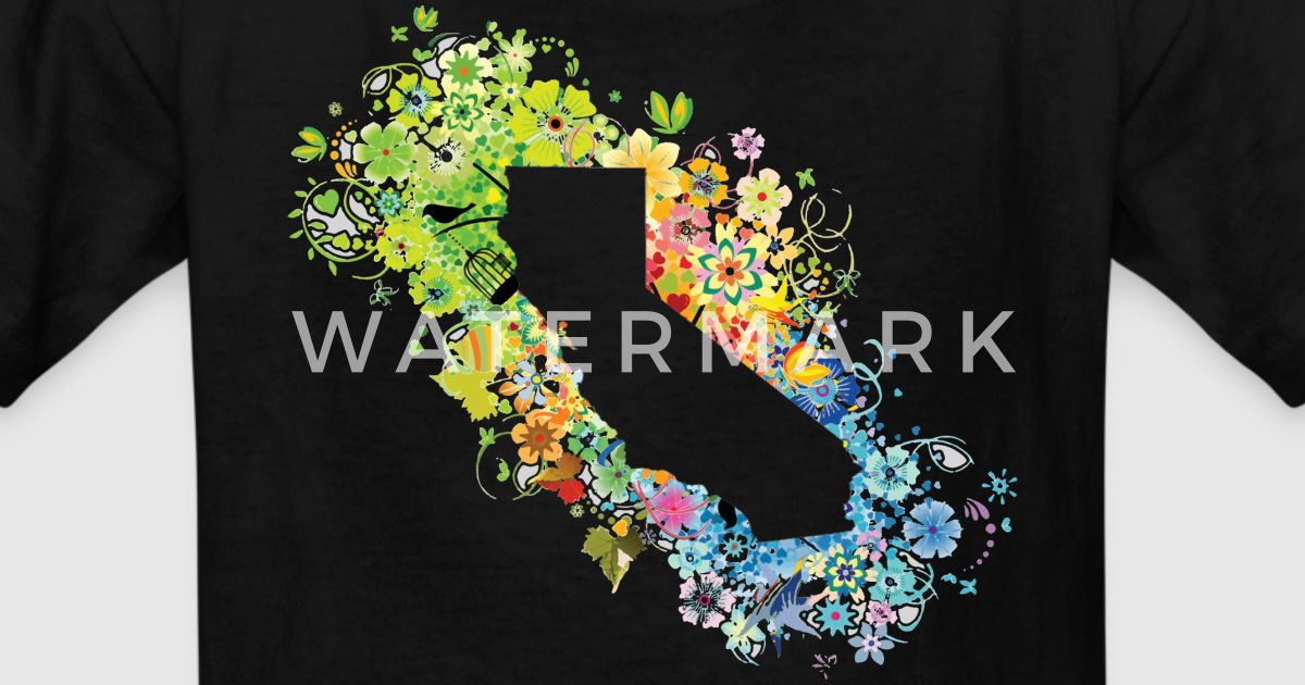 California Pretty Four Season State By Bespoketech2 Spreadshirt