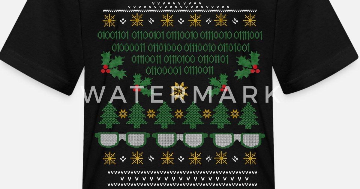 b8e13456 Geek Ugly Christmas Sweater Kids' T-Shirt | Spreadshirt