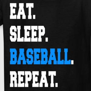 Funny Eat Sleep Baseball Repeat Sayings Apparel - Kids' T-Shirt