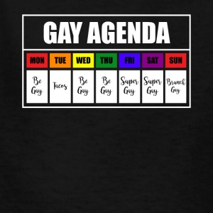 lgbt gay agenda t shirt - Kids' T-Shirt