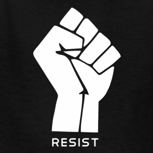 anarchy flag resist vectorized - Kids' T-Shirt