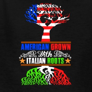 American grown with italian roots - Kids' T-Shirt