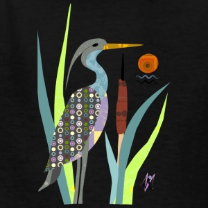 Waterbird-Heron - Kids' T-Shirt
