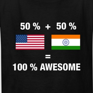 Half Indian Half American 100% India - Kids' T-Shirt