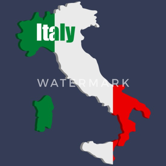 Map Of Italy For Kids.Italy Map Kids T Shirt White