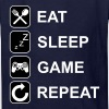 Eat Sleep Game Repeat - Kids' T-Shirt