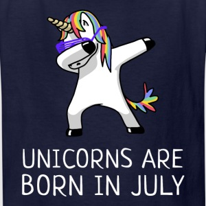 Unicorns are Born in July Dabbing - Kids' T-Shirt