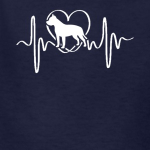 Bull Terrier Heartbeat Shirt - Kids' T-Shirt