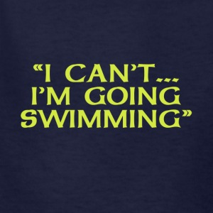 I Can't Going Swimming - Kids' T-Shirt