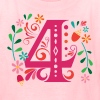 4th Birthday Girls Party Number 4 - Kids' T-Shirt