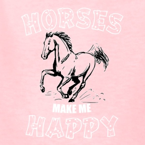 HORSES MAKE ME HAPPY - Kids' T-Shirt