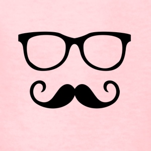Hipster Sunglass & Moustache - Kids' T-Shirt