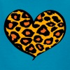 cheetah heart - Kids' T-Shirt
