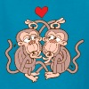 Monkeys Falling in Love while Eating Lice - Kids' T-Shirt