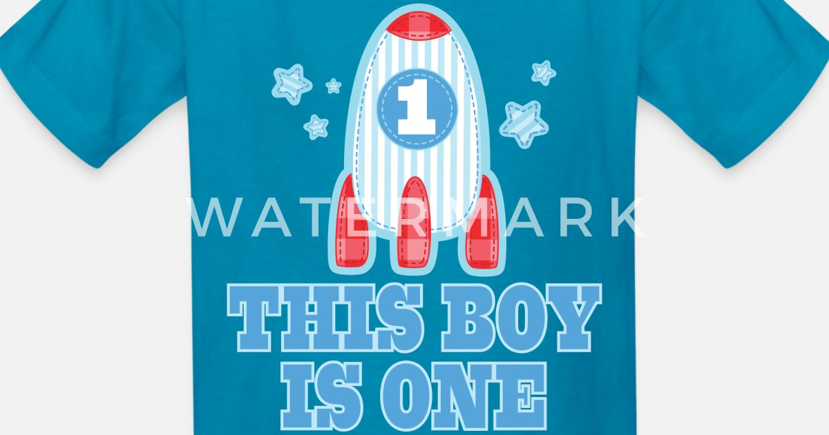 Kids T Shirt1st Birthday Boys Outer Space Rocket