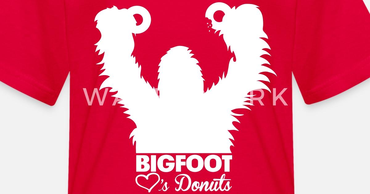 6925c21a Bigfoot Loves Donuts Kids' T-Shirt | Spreadshirt