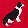 border collie sit - Kids' T-Shirt