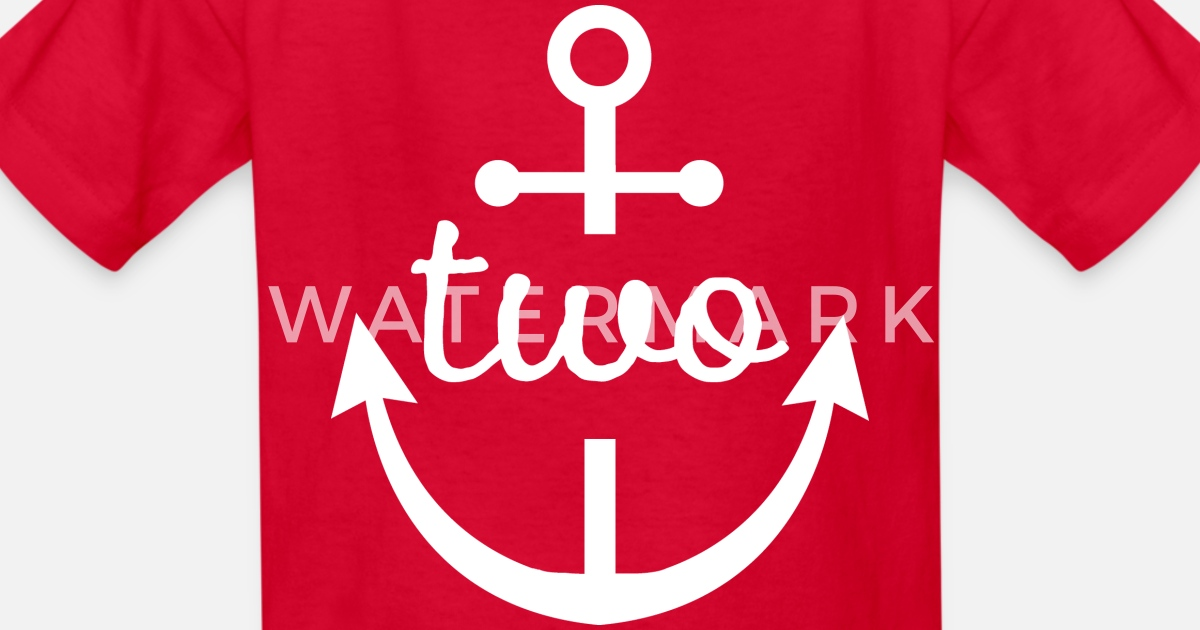 Kids T Shirt2nd Birthday Nautical Anchor 2 Year Old