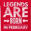 birthday shirt designs legends born in february  - Kids' T-Shirt