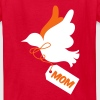 PRETTY mothers day peace dove with a tag saying mom - Kids' T-Shirt