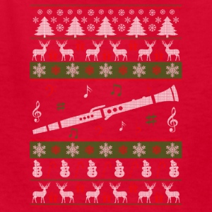 Clarinet Ugly Christmas Sweater - Kids' T-Shirt