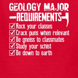 Geology Major Requirements Checklist Funny Shirt - Kids' T-Shirt