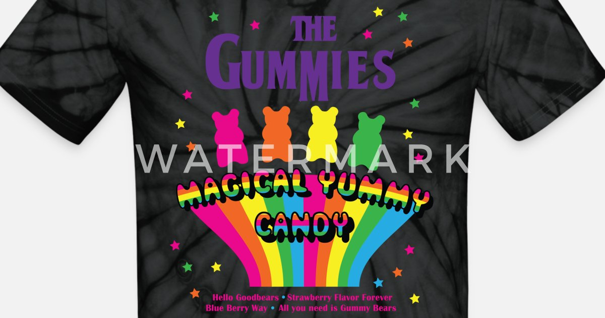 08919716715 Magical Gummy Bears Unisex Tie Dye T-Shirt