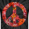 peace with flowers - Unisex Tie Dye T-Shirt