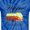 Hippies: Make Love...not War! - Unisex Tie Dye T-Shirt