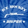 Ice Hockey Sniper - Unisex Tie Dye T-Shirt