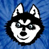 Siberian husky face with a huge smile cute! - Unisex Tie Dye T-Shirt