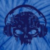 cyber Skull with headphones - Unisex Tie Dye T-Shirt