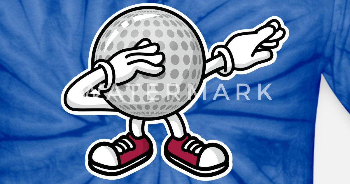 Dab Dabbing Minigolf Midget Golf Golf Ball Unisex Tie Dye T