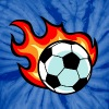 Flaming Soccer Ball - Unisex Tie Dye T-Shirt