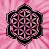 Flower of life, Lotus-Flower, vector 3, c, energy symbol, healing symbol - Unisex Tie Dye T-Shirt