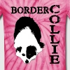 Border Collie Split Face - Unisex Tie Dye T-Shirt