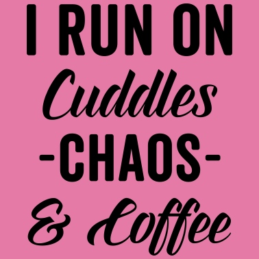 Cuddles, Chaos & Coffee Funny Quote - Unisex Tie Dye T-Shirt