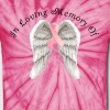 Memory Angel Wings for Breast Cancer template - Unisex Tie Dye T-Shirt