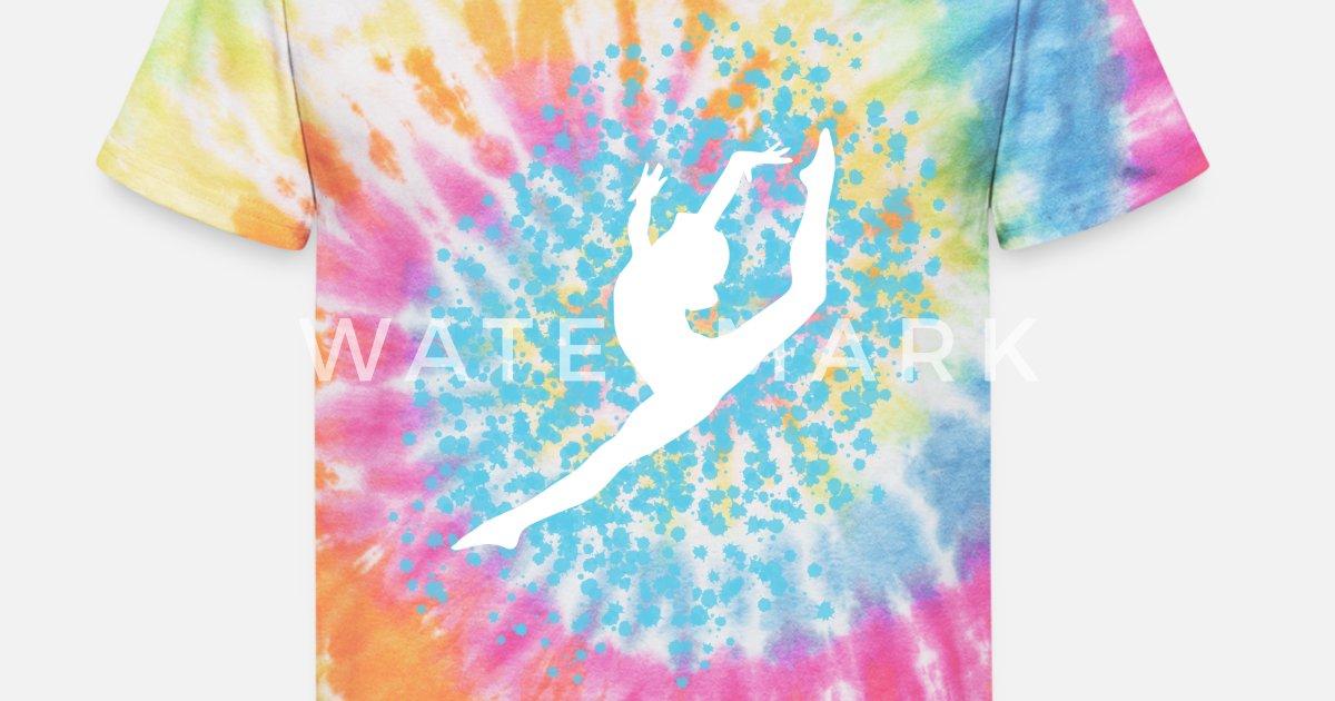Gymnastics Tie Dye Logo Design shirt Black T-shirt