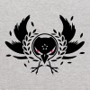 A crow with a laurel wreath and dangerous eyes - Kids' Hoodie