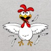 Funny Cartoon Chicken - Kids' Hoodie